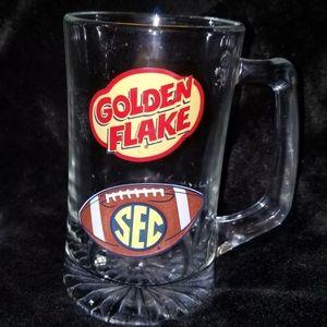 SEC Football & Goldenflake Mug ~ 20 oz Heavy Glass